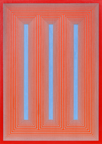 <strong>Richard Anuszkiewicz</strong> Temple of Blue Red and Cadmium #767